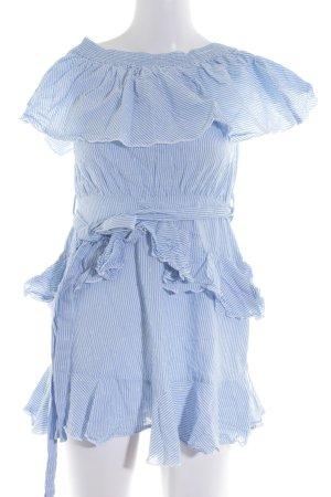 Topshop schulterfreies Kleid blau-weiß Streifenmuster Elegant