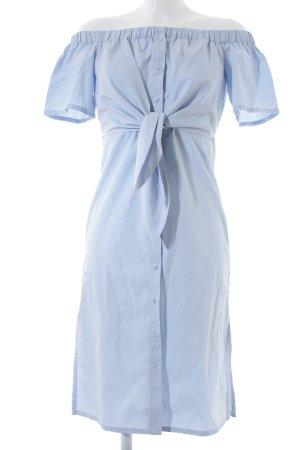 Topshop schulterfreies Kleid hellblau Elegant