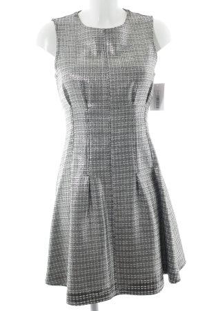Topshop schulterfreies Kleid schwarz-silberfarben Glanz-Optik