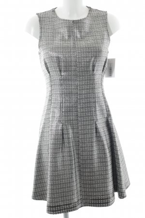 Topshop Off-The-Shoulder Dress black-silver-colored wet-look