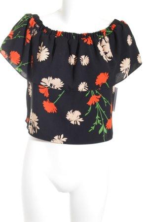 Topshop schulterfreies Top florales Muster Romantik-Look