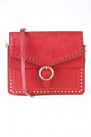 Topshop Schultertasche rot Street-Fashion-Look