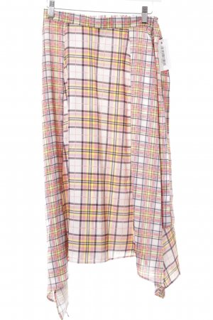 Topshop Silk Skirt check pattern casual look