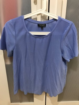 Topshop Shirt mit Muschelsaum