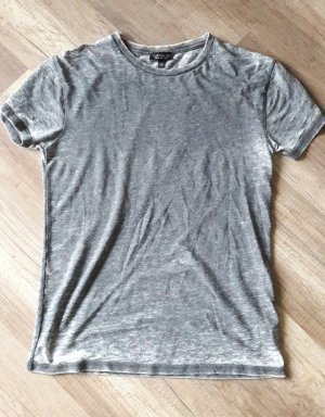 Topshop Shirt T-Shirt Grau Used Look Washed Out Acid Wash 36