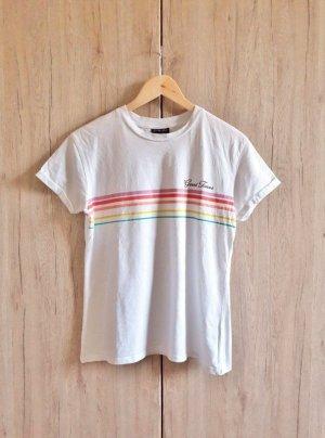 Topshop Shirt weiß bunt Gr. 36