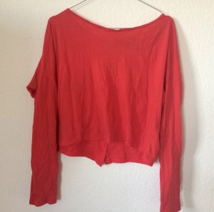 Topshop Short Red Blouse