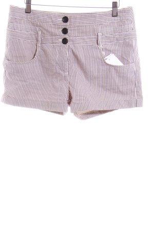 Topshop Shorts dunkelgrau-blasslila Streifenmuster Casual-Look