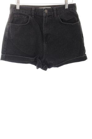 Topshop Shorts schwarz-dunkelgrau Urban-Look