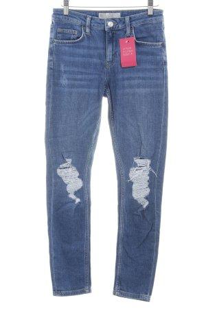 Topshop Skinny Jeans neonblau Casual-Look