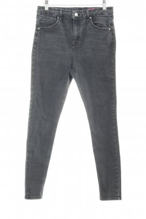 Topshop Skinny Jeans anthrazit Casual-Look