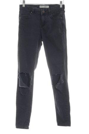 Topshop Skinny Jeans anthrazit Destroy-Optik