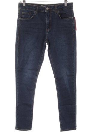 Topshop Skinny Jeans dunkelblau Casual-Look