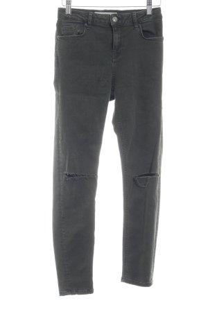 Topshop Skinny Jeans dunkelgrün Destroy-Optik