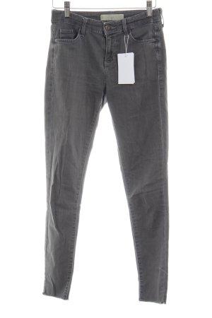 Topshop Skinny Jeans grau Casual-Look