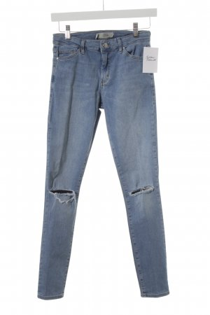Topshop Skinny Jeans kornblumenblau Destroy-Optik