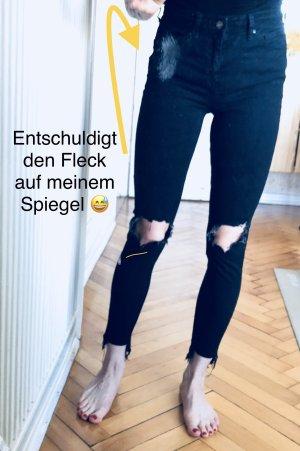 Topshop Skinny Jeans mit Rissen JAMIE