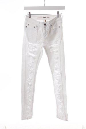 """Topshop Skinny Jeans """"Moto """" weiß"""