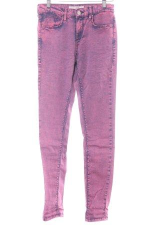 Topshop Skinny Jeans pink-dunkelblau extravaganter Stil