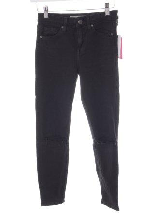 Topshop Skinny Jeans schwarz Destroy-Optik