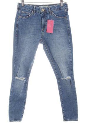 Topshop Skinny Jeans stahlblau Casual-Look