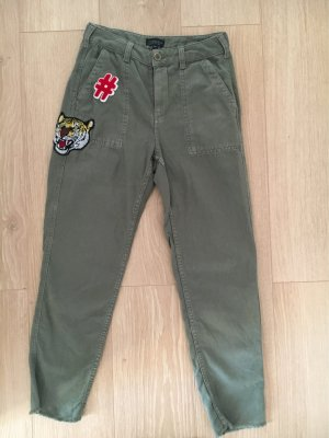 Topshop slim Cargo Pants mit Patches in 36