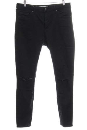 Topshop Slim Jeans schwarz Destroy-Optik