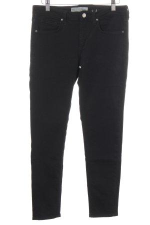 Topshop Slim Jeans schwarz Webmuster Casual-Look