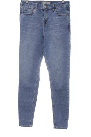 Topshop Slim Jeans stahlblau Casual-Look