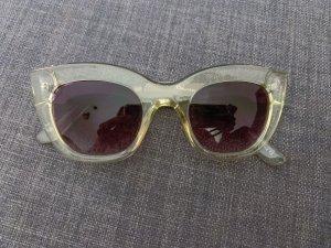 Topshop Sonnenbrille Lila Gläser Transparentes Gestell