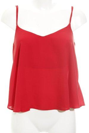 Topshop Top con bretelline rosso stile casual