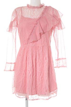 Topshop Spitzenkleid rosa extravaganter Stil