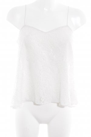Topshop Lace Top white floral pattern beach look