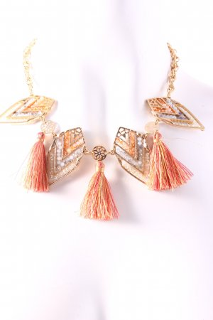 Topshop Statement Necklace gold-colored-salmon Boho look