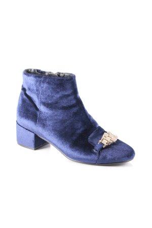 Topshop Stiefeletten blau-goldfarben Eleganz-Look