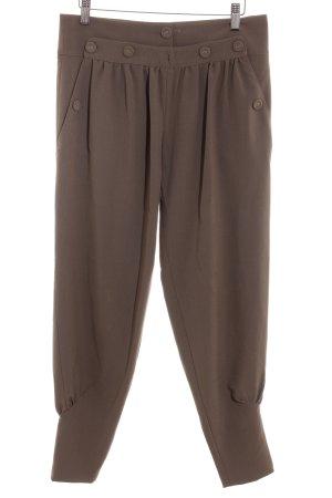 Topshop Pantalon en jersey marron clair-gris brun style classique