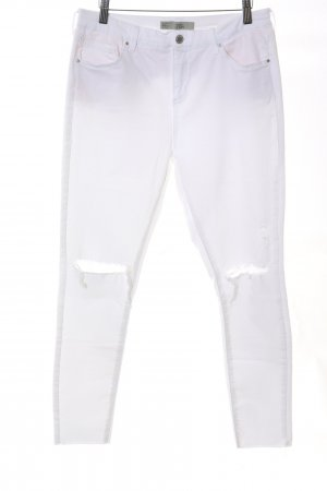 Topshop Stretch Jeans weiß Casual-Look