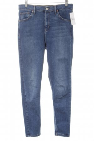 Topshop Stretch Jeans stahlblau Casual-Look