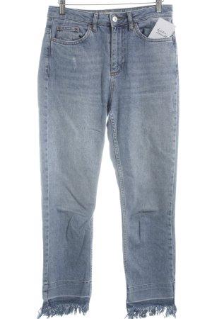 Topshop Jeans elasticizzati blu acciaio stile casual