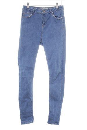 Topshop Stretch Jeans stahlblau-kornblumenblau Casual-Look