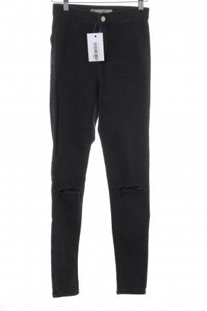 Topshop Stretchhose schwarz Casual-Look