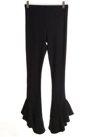 Topshop Pantalón elástico negro estilo extravagante