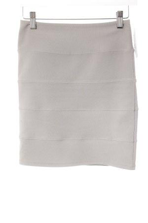 Topshop Stretchrock grau Streifenmuster Elegant