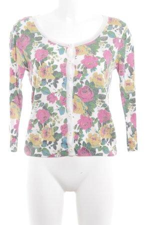Topshop Strickjacke florales Muster Casual-Look