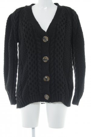 Topshop Strickjacke schwarz Casual-Look