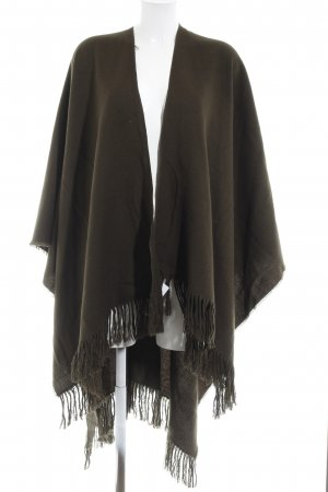 Topshop Strickponcho dunkelgrün Casual-Look