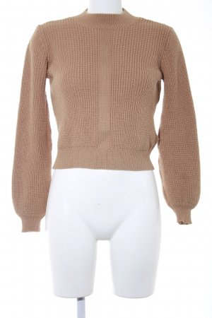 Topshop Strickpullover camel Casual-Look