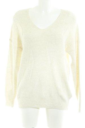 Topshop Maglione lavorato a maglia beige chiaro stile casual