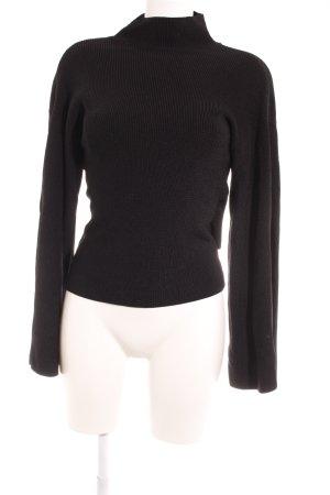 Topshop Pull tricoté noir style décontracté