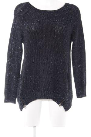 Topshop Pull tricoté noir-bleu foncé style décontracté